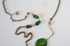 pietre dure e seme orientale con  stellina in argento