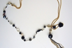 rosario con cristalli e catena con ciuffo