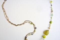 rosario con pietre dure e coralli verde