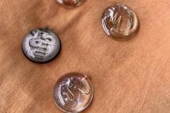 love Milano filo di ottone lavorato a mano in ciondoli in resina