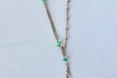 rosario che incatenano pietre dure verdi e rosa