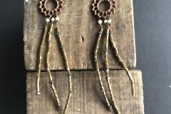 perline metalliche e bronzo