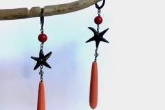 corallo stella di mare d'argento brunito